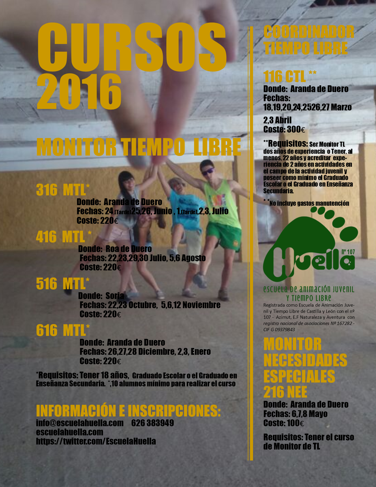 Cartel cursos 2016